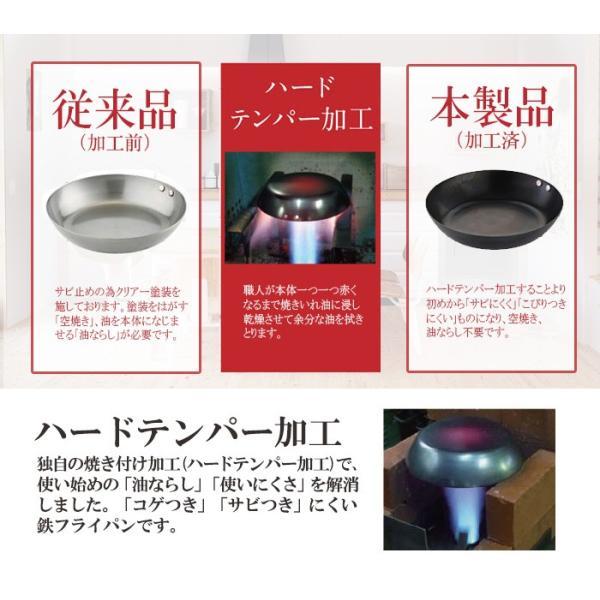 (木柄)昔ながらの使いやすい鉄フライパン 26cm 木製の持ち手 日本製 焼付 油ならし 加工済 【ガス・IH対応】|honest|08