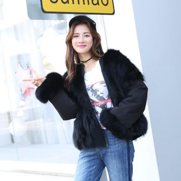 韓国 ファッション レディース アウター ムートン ファーコート 秋 冬 カジュアル ポイントファー リバーシブル エコファー もこもこ   nalo8009 20代 30代 40代