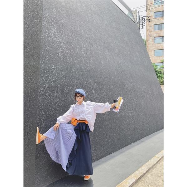 韓国 ファッション レディース スカート ボトムス 春 秋 冬 カジュアル ラッフル アシンメトリー ぺプラム プリーツ naloG986 20代 30代 40代 honey-flower 13