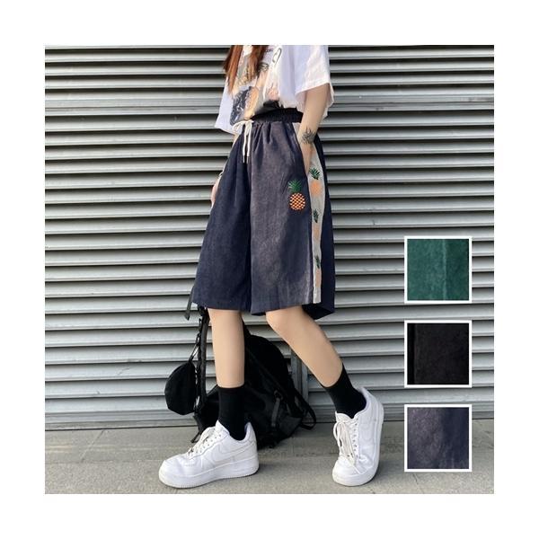 韓国 ファッション レディース パンツ ショート ボトムス 春 夏 カジュアル ライン ジョガー ショーパン ストリート naloK400 20代 30代 40代