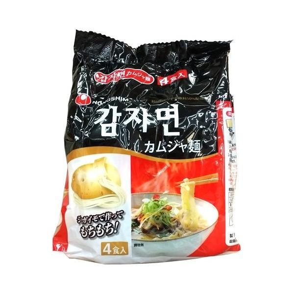 農心/ノンシン/日本語/じゃがいも麺/4個入り/韓国食品/韓国ラーメン/インスタントラーメン/らーめん|honeybutter