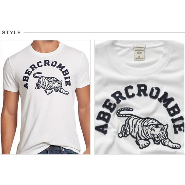 アバクロ Tシャツ アバクロンビー&フィッチ Abercrombie&Fitch グラフィック タイガー Tシャツ メンズ 半袖 AM11113 正規品 本物保証|honeyflavor|02