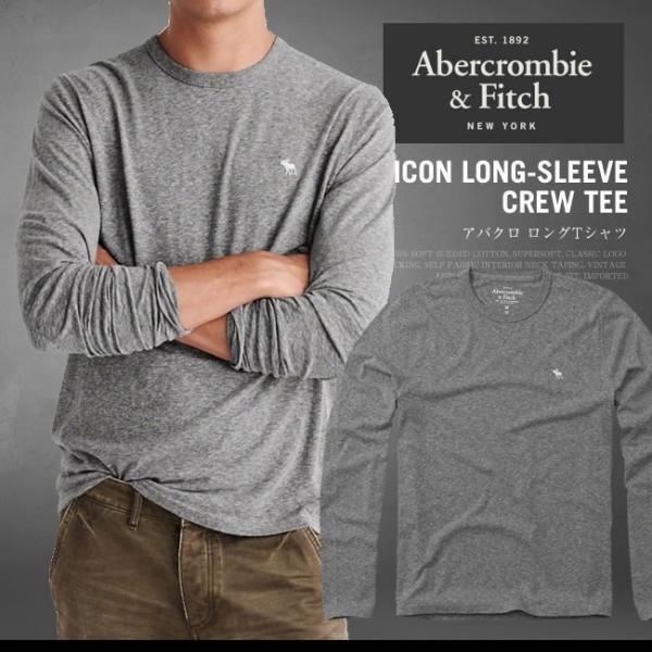 アバクロ ロンT アバクロンビー&フィッチ Abercrombie&Fitch ICON LONG-SLEEVE CREW TEE ワンポイント AM12050 大きいサイズ|honeyflavor