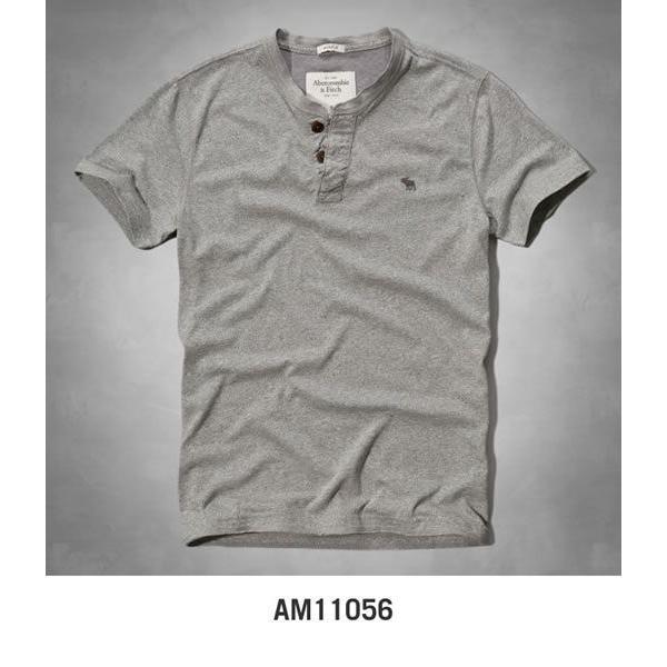 アバクロ Tシャツ アバクロンビー&フィッチ Abercrombie&Fitch ヘンリーネック Tシャツ メンズ 半袖 M-1154 正規品 本物保証 honeyflavor 05