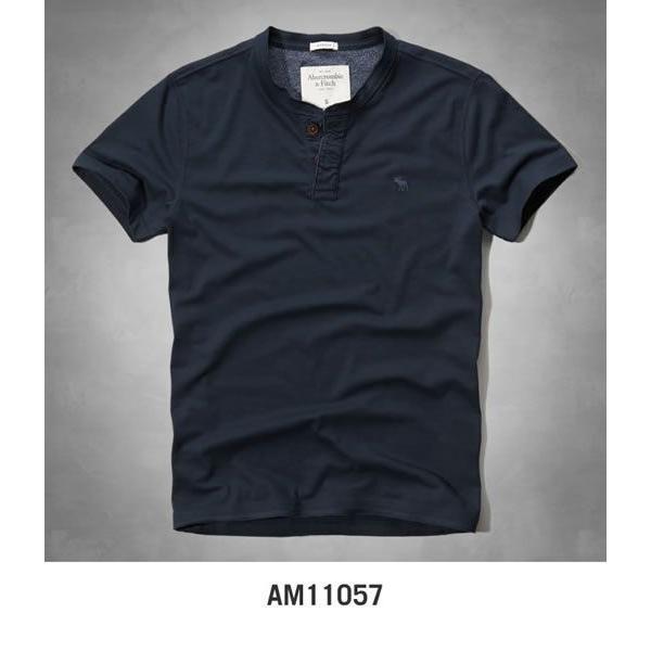 アバクロ Tシャツ アバクロンビー&フィッチ Abercrombie&Fitch ヘンリーネック Tシャツ メンズ 半袖 M-1154 正規品 本物保証 honeyflavor 06