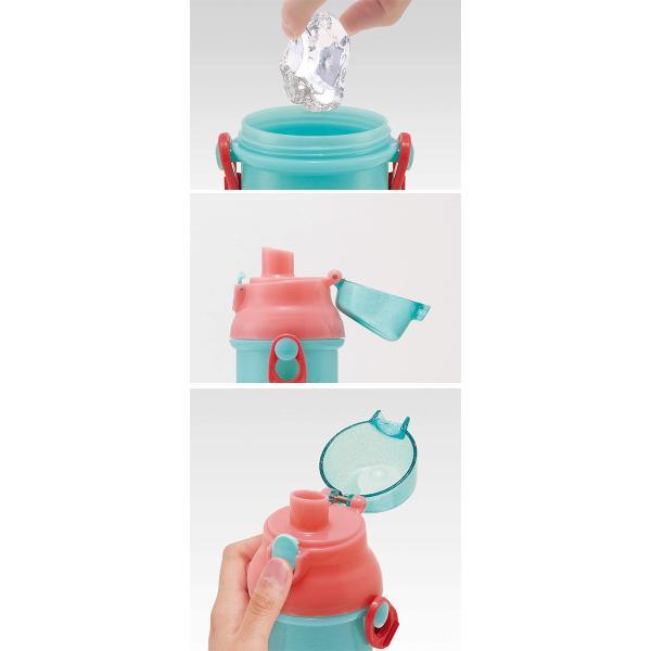 キャラクター ワンタッチオープン 直飲み プラスチック 水筒 ボトル 子供 キッズ ディズニー ミニオン 学用品|honeysmileys|04