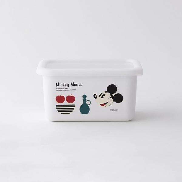 ホーロー 琺瑯 ほうろう Disney 富士ホーロー ディズニー深型角容器S ハニーウェア オーブン調理対応 ホーロー容器 キッチン用品 安心のメーカー直販 disney_y|honeyware