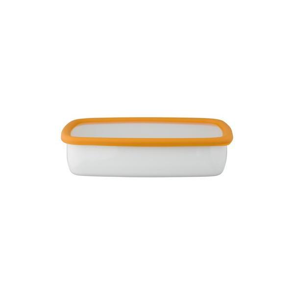 ホーロー 琺瑯 ほうろう 保存容器 富士ホーロー キッチン雑貨 Konte コンテ オーブン調理可能 ホーロー容器 浅型角容器LL 安心のメーカー直販|honeyware