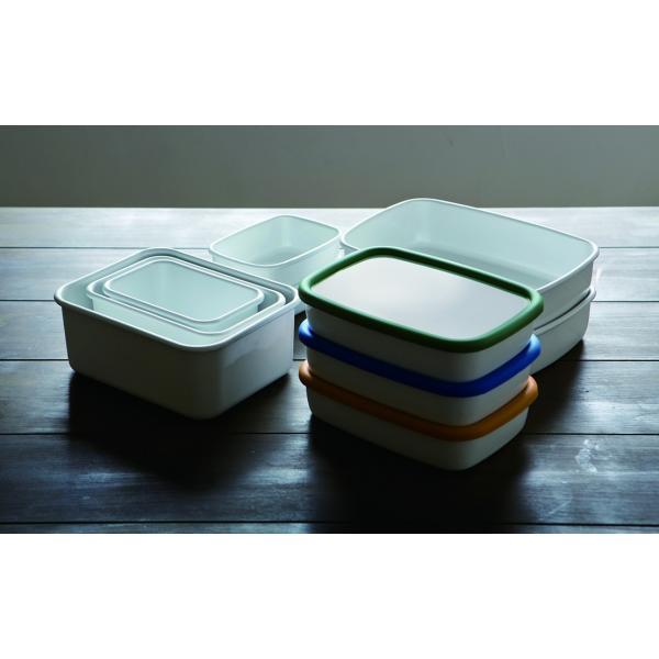 ホーロー 琺瑯 ほうろう 保存容器 富士ホーロー キッチン雑貨 Konte コンテ オーブン調理可能 ホーロー容器 浅型角容器LL 安心のメーカー直販|honeyware|05