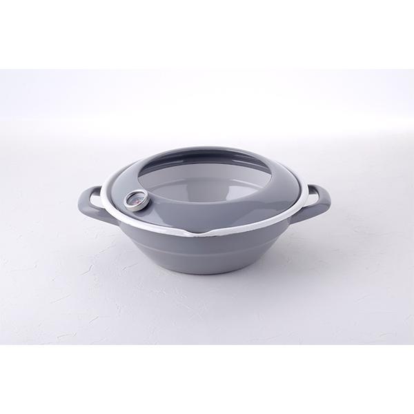 24cm ホーロー天ぷら鍋 (温度計付き)|honeyware|05