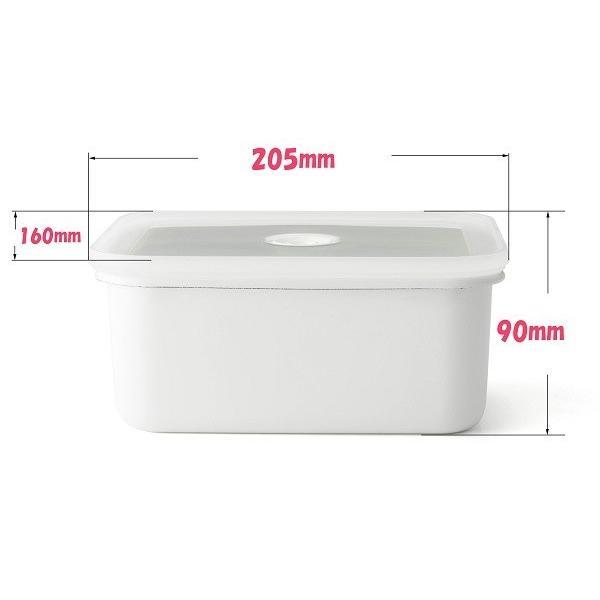 ホーロー 琺瑯 ほうろう ヴィードシリーズ 真空琺瑯容器 深型角容器 L キッチン ハニーウェア 富士ホーロー 安心のメーカー直販|honeyware|02