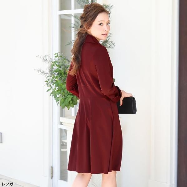 パーティードレス ワンピース ドレス 20代 30代 結婚式 M L LL XL レッド ネイビー グリーン ブラック 大きいサイズ hongkongmadam 12