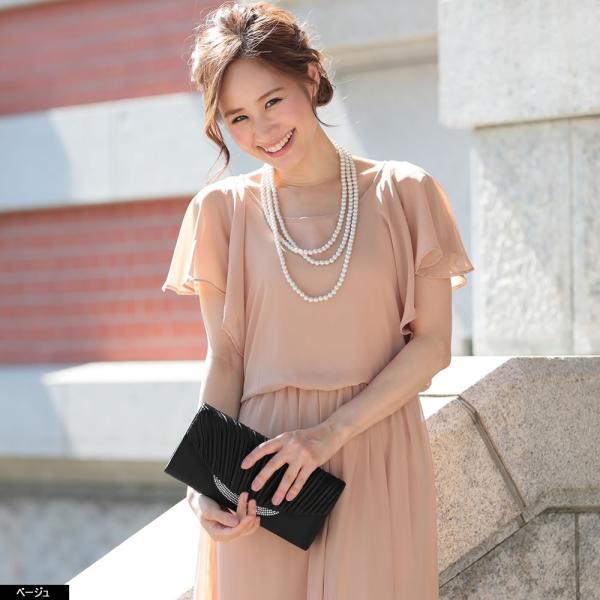 パーティードレス パンツドレス パンツスタイル 20代 30代 結婚式 ネイビー ベージュ ブラック M L LL 3L 大きいサイズ 送料無料|hongkongmadam|12