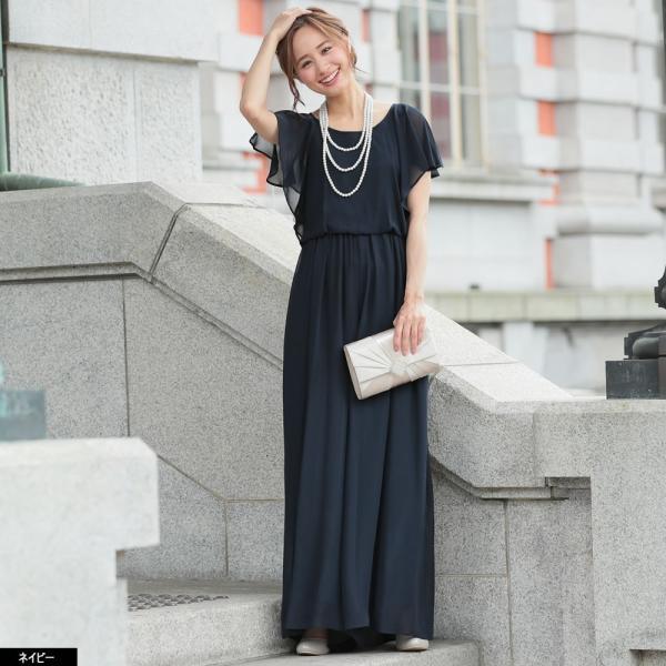 パーティードレス パンツドレス パンツスタイル 20代 30代 結婚式 ネイビー ベージュ ブラック M L LL 3L 大きいサイズ 送料無料|hongkongmadam|13