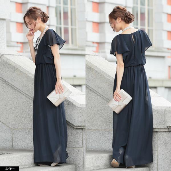 パーティードレス パンツドレス パンツスタイル 20代 30代 結婚式 ネイビー ベージュ ブラック M L LL 3L 大きいサイズ 送料無料|hongkongmadam|15