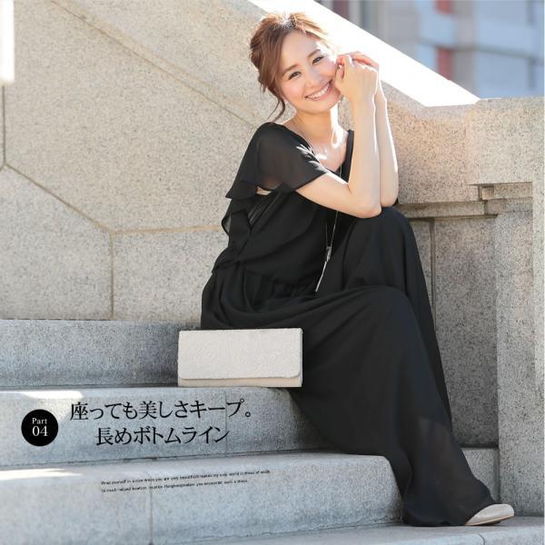 パーティードレス パンツドレス パンツスタイル 20代 30代 結婚式 ネイビー ベージュ ブラック M L LL 3L 大きいサイズ 送料無料|hongkongmadam|07
