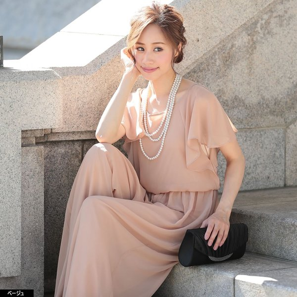 パーティードレス パンツドレス パンツスタイル 20代 30代 結婚式 ネイビー ベージュ ブラック M L LL 3L 大きいサイズ 送料無料|hongkongmadam|10