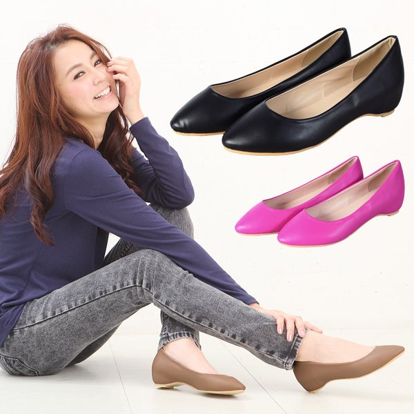 レディース 靴 パンプス シーンを選ばない大人の万能パンプス ロー インヒール ベーシック パンプス b1186