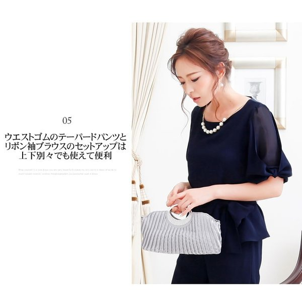 パーティードレス パンツドレス パンツスタイル セットアップ 20代 30代 結婚式 M L LL 3L ネイビー ベージュ ブラック 大きいサイズ 送料無料|hongkongmadam|07