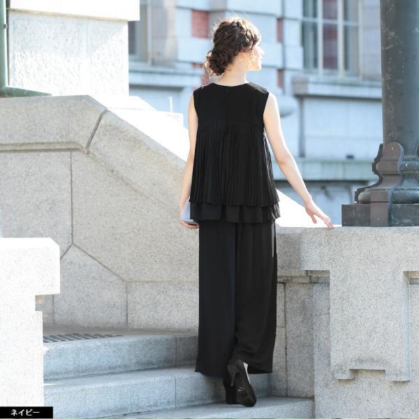 パーティードレス パンツドレス パンツスタイル ドレス 20代 30代 結婚式 二次会 大きいサイズ M/L/LL/3L ネイビー/ブラック/ベージュ hongkongmadam 12
