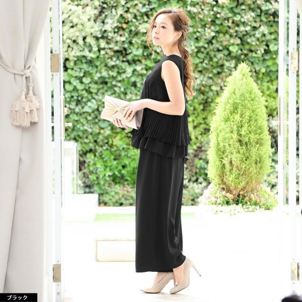 パーティードレス パンツドレス パンツスタイル ドレス 20代 30代 結婚式 二次会 大きいサイズ M/L/LL/3L ネイビー/ブラック/ベージュ hongkongmadam 14