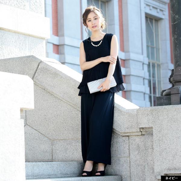 パーティードレス パンツドレス パンツスタイル ドレス 20代 30代 結婚式 二次会 大きいサイズ M/L/LL/3L ネイビー/ブラック/ベージュ hongkongmadam 09
