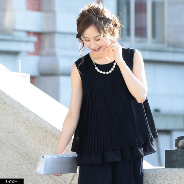 パーティードレス パンツドレス パンツスタイル ドレス 20代 30代 結婚式 二次会 大きいサイズ M/L/LL/3L ネイビー/ブラック/ベージュ hongkongmadam 10