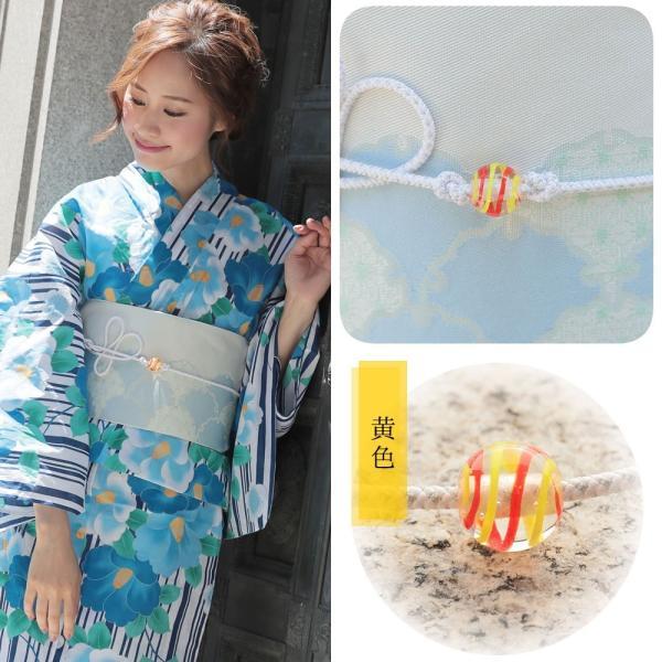 帯飾り選べる 正絹紐つきガラス製とんぼ玉飾り(d1258)帯紐 浴衣 レディース 小物 単品 hongkongmadam 05