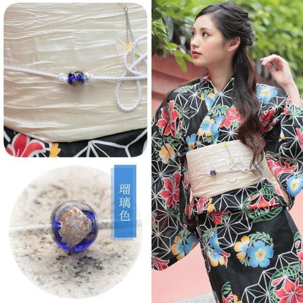 帯飾り選べる 正絹紐つきガラス製とんぼ玉飾り(d1258)帯紐 浴衣 レディース 小物 単品 hongkongmadam 10