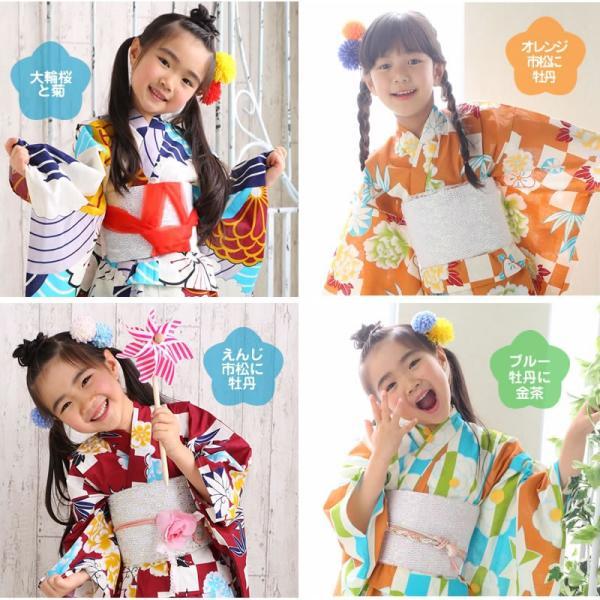 浴衣 子供 女の子 選べる キュートな 11柄 レトロ フラット キッズ 浴衣|hongkongmadam|02