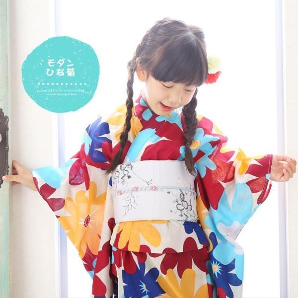 浴衣 子供 女の子 選べる キュートな 11柄 レトロ フラット キッズ 浴衣|hongkongmadam|12
