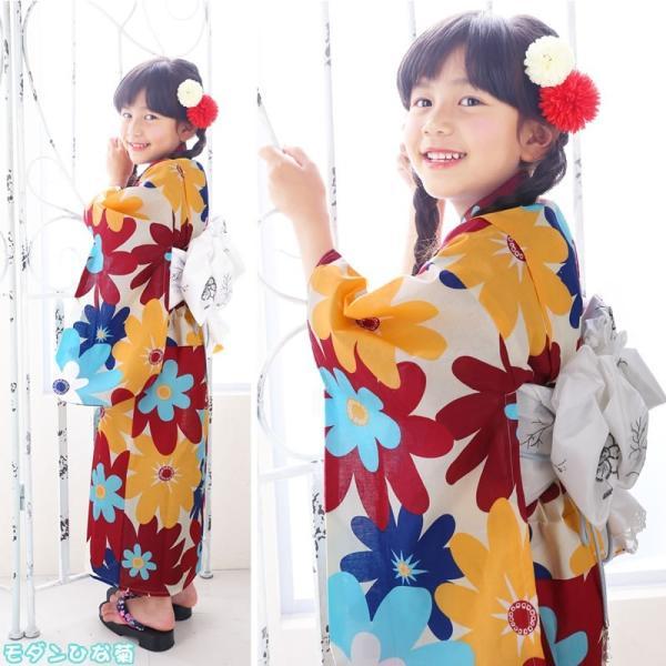 浴衣 子供 女の子 選べる キュートな 11柄 レトロ フラット キッズ 浴衣|hongkongmadam|13