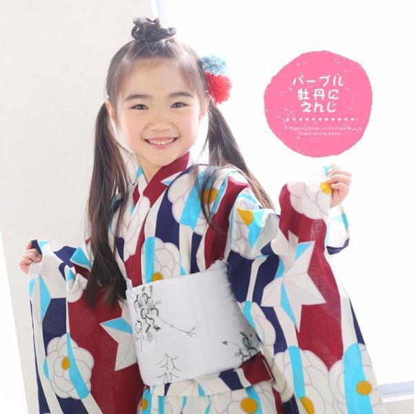 浴衣 子供 女の子 選べる キュートな 11柄 レトロ フラット キッズ 浴衣|hongkongmadam|14