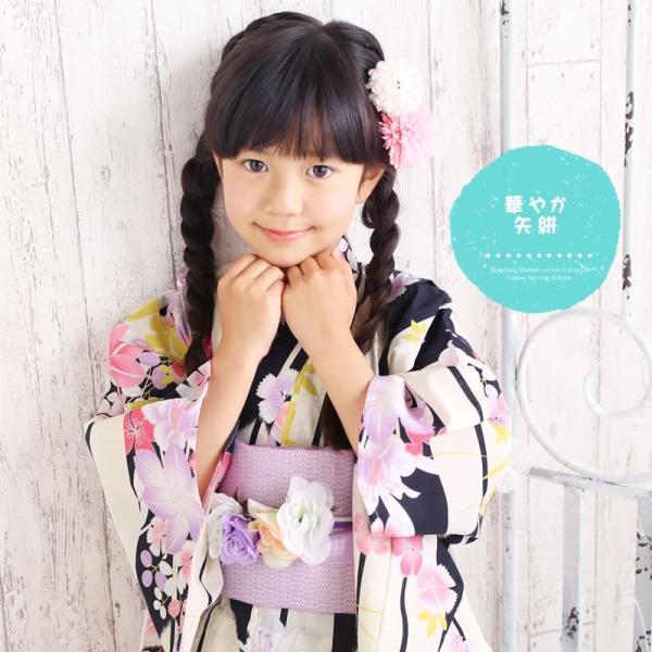 浴衣 子供 女の子 選べる キュートな 11柄 レトロ フラット キッズ 浴衣|hongkongmadam|16