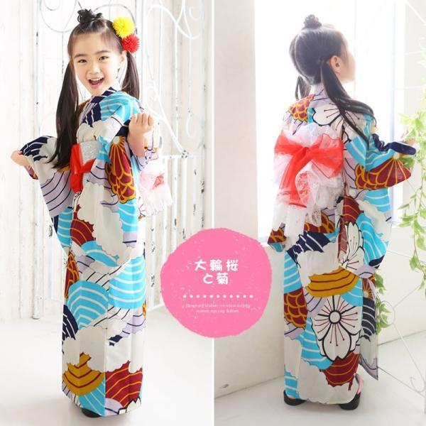浴衣 子供 女の子 選べる キュートな 11柄 レトロ フラット キッズ 浴衣|hongkongmadam|05