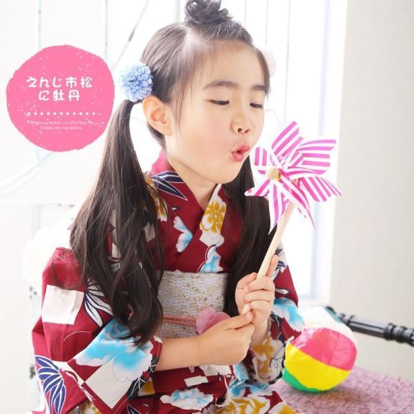 浴衣 子供 女の子 選べる キュートな 11柄 レトロ フラット キッズ 浴衣|hongkongmadam|08