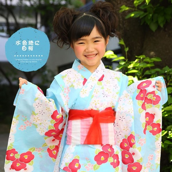 浴衣 子供 女の子 帯 浴衣 2点セット レトロ キッズ 浴衣|hongkongmadam|11