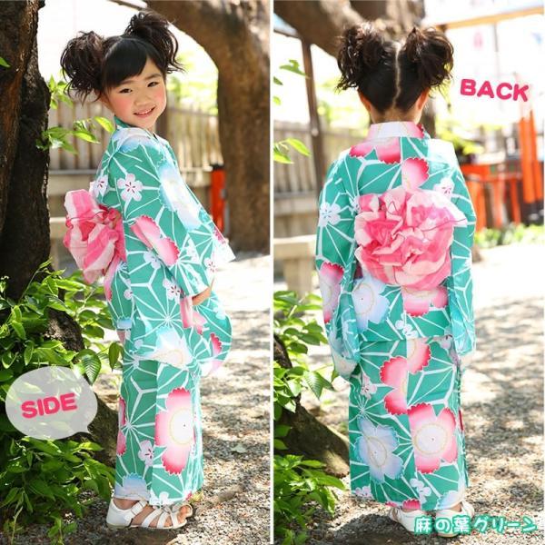 浴衣 子供 女の子 帯 浴衣 2点セット レトロ キッズ 浴衣|hongkongmadam|16