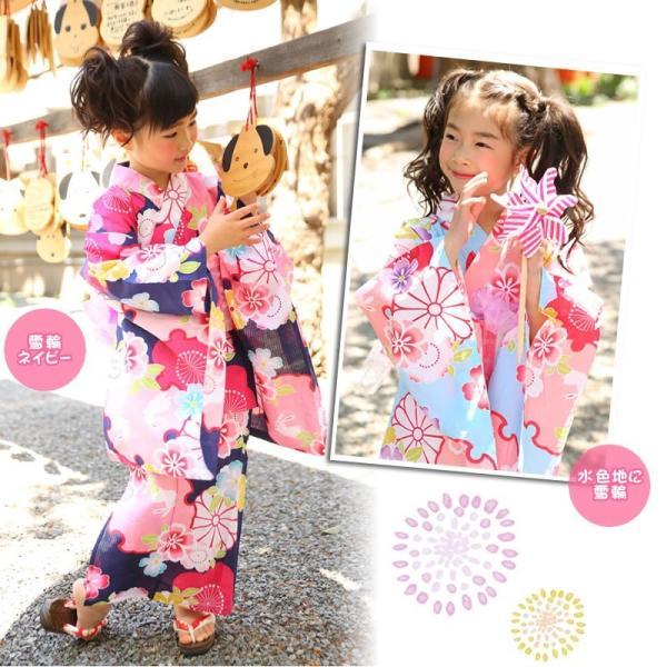 浴衣 子供 女の子 帯 浴衣 2点セット レトロ キッズ 浴衣|hongkongmadam|06