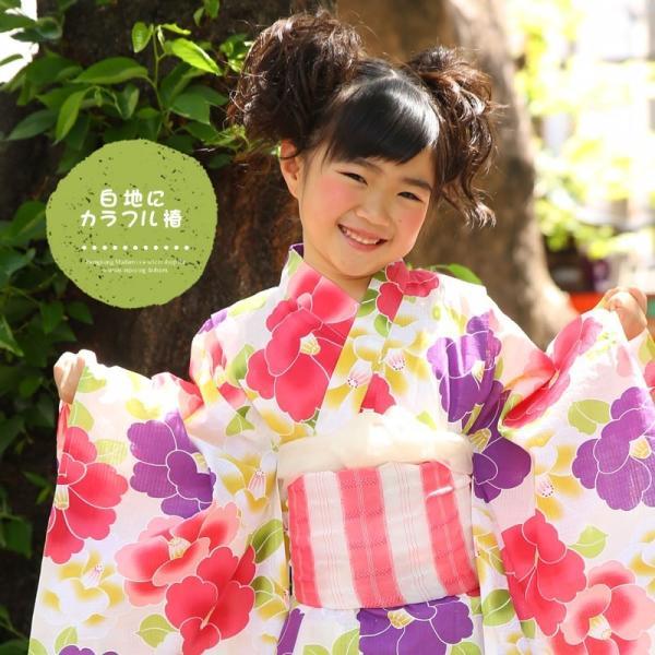 浴衣 子供 女の子 帯 浴衣 2点セット レトロ キッズ 浴衣|hongkongmadam|09