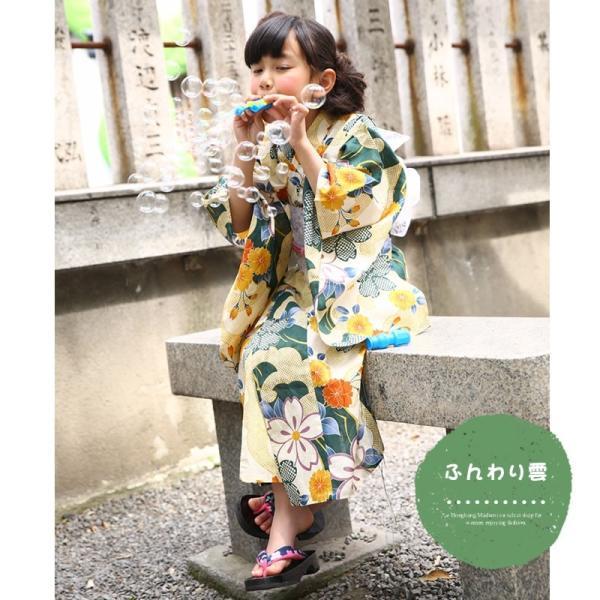 aad15b192995d ... 浴衣 子供 女の子 選べる キュートな 5柄 シック レトロ キッズ 浴衣|hongkongmadam| ...