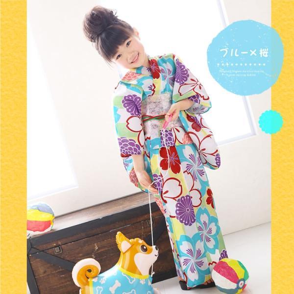 浴衣 子供 女の子 古典柄 レトロ キッズ 浴衣|hongkongmadam|04