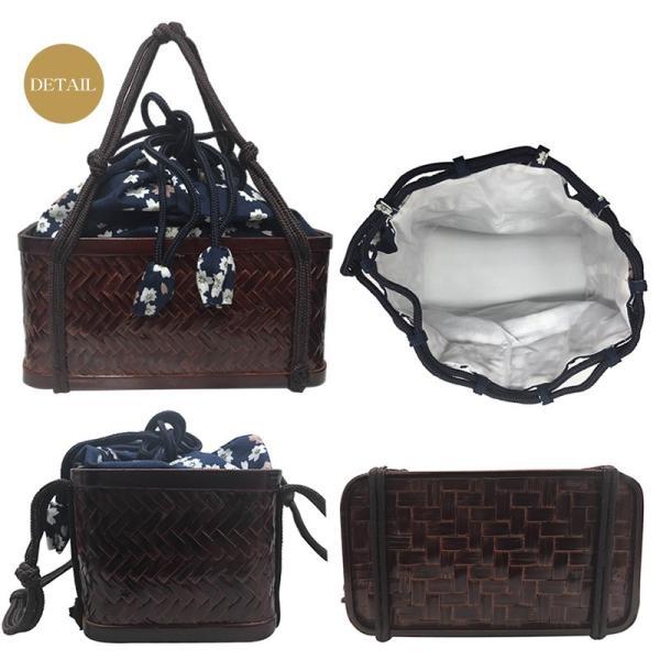 レトロなかごバッグで浴衣姿をランクUP レトロ巾着天然竹カゴバッグ(d5591)和装バック 浴衣 バック 女性 レディースィース|hongkongmadam|04