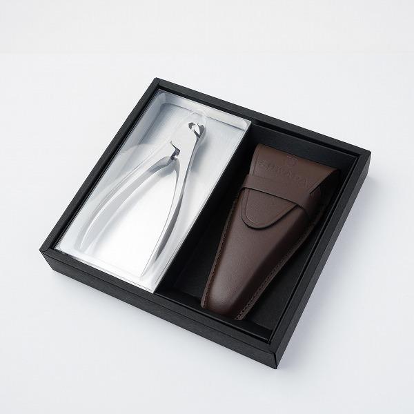 SUWADA スワダ 諏訪田 爪切り つめきり クラシックL 専用革ケース付 ギフト ダークブラウン 高級 日本製 ニッパー型