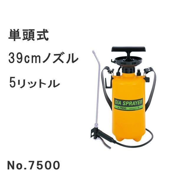 フルプラ プレッシャー式噴霧器5L No.7500 単頭式39cmノズル|honmamon