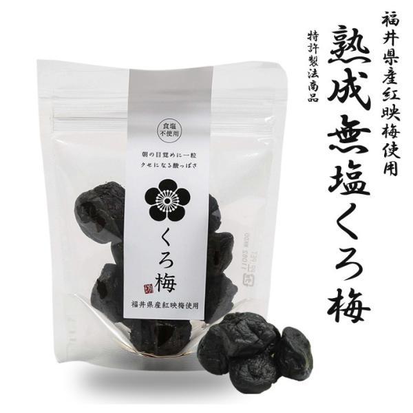 熟成 無塩 くろ梅 黒梅 福井県産 紅映梅 から黒にんにくと同じ製法で作成 100g 5袋入り