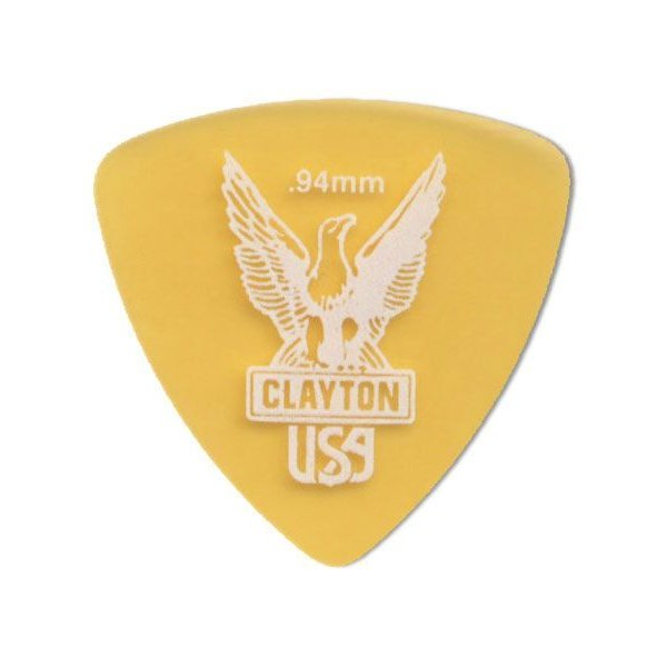 《期間限定!ポイントアップ!》Clayton Ultem Picks Rounded Triangle URT94(0.94mm)(ピック)(48枚セット) (ネコポス)