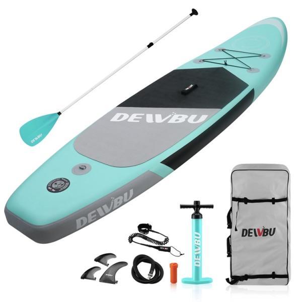 DEWBU サーフボード ISUP 空気注入式スタンドアップパドルボード サップボード フィン付き インフレータブルサーフボード 滑り止め 初心者向け|hoolvip|02