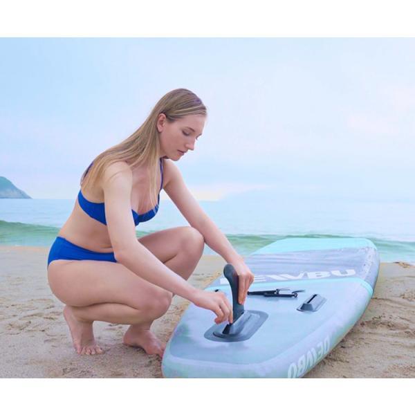 DEWBU サーフボード ISUP 空気注入式スタンドアップパドルボード サップボード フィン付き インフレータブルサーフボード 滑り止め 初心者向け|hoolvip|13