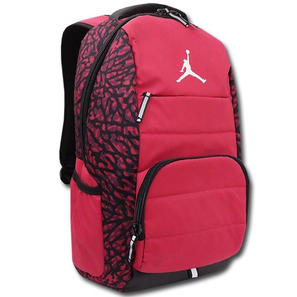18e643253a81 JB835 Jordan All World Elephant Camo Backpack ジョーダン リュックサック 赤黒の画像
